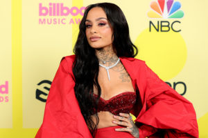 In this image released on May 23, Kehlani poses backstage for the 2021 Billboard Music Awards, broadcast on May 23, 2021 at Microsoft Theater in Los Angeles, California.