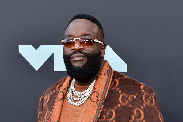 NEWARK, NEW JERSEY - AUGUST 26: Rapper Rick Ross attends the 2019 MTV Video Music Awards red carpet at Prudential Center on August 26, 2019 in Newark, New Jersey.