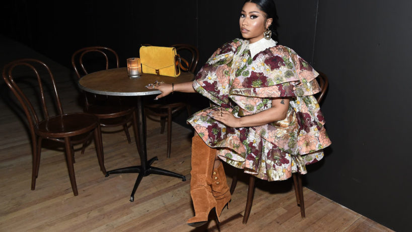 NEW YORK, NEW YORK - FEBRUARY 12: Nicki Minaj attends the Marc Jacobs Fall 2020 runway show during New York Fashion Week on February 12, 2020 in New York City.