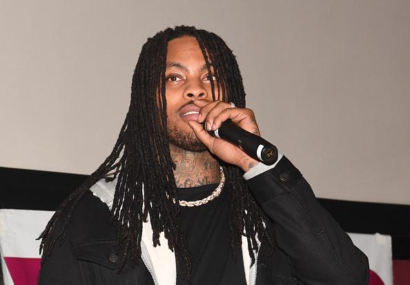 "Rapper Waka Flocka attends ""Game Night"" Atlanta screening at Regal Atlantic Station on February 20, 2018 in Atlanta, Georgia."