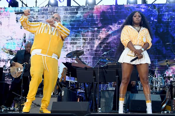 Fat Joe (L) and Remy Ma during We Love NYC: The Homecoming Concert Produced by NYC, Clive Davis, and Live Nation on August 21, 2021 in New York City.