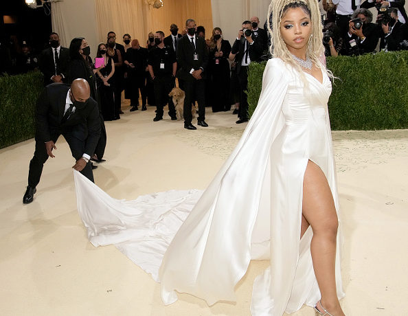 Chloe Bailey attends The 2021 Met Gala Celebrating In America: A Lexicon Of Fashion at Metropolitan Museum of Art on September 13, 2021 in New York City.