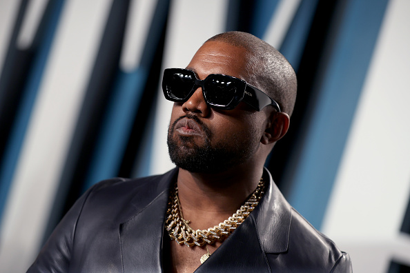 BEVERLY HILLS, CALIFORNIA - FEBRUARY 09: Kanye West attends the 2020 Vanity Fair Oscar Party hosted by Radhika Jones at Wallis Annenberg Center for the Performing Arts on February 09, 2020 in Beverly Hills, California