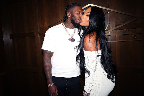 """Pardison """"Pardi"""" Fontaine and Megan Thee Stallion attends 40/40 Club Celebrates 18-Year Anniversary With Star-Studded Event at 40 / 40 Club on August 28, 2021 in New York City."""