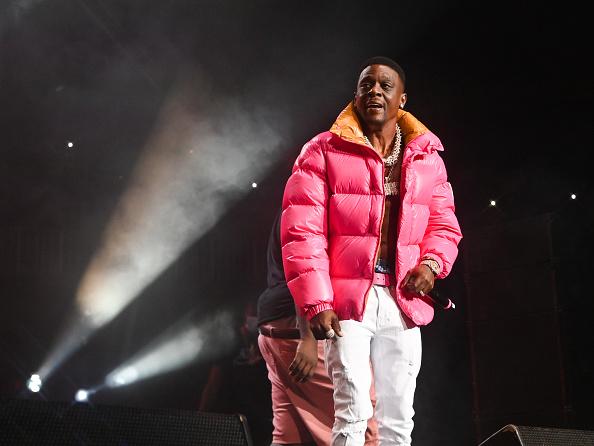 ATLANTA, GA - SEPTEMBER 30: Lil Boosie performs at Legendz To The Streetz Tour at State Farm Arena on September 30, 2021 in Atlanta, Georgia.