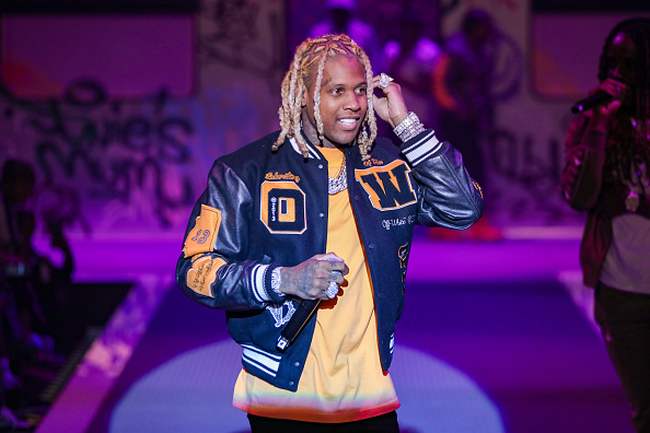Lil Durk performs on the runway for PrettyLittleThing: Teyana Taylor Collection II New York Fashion Week on September 09, 2021 in New York City.