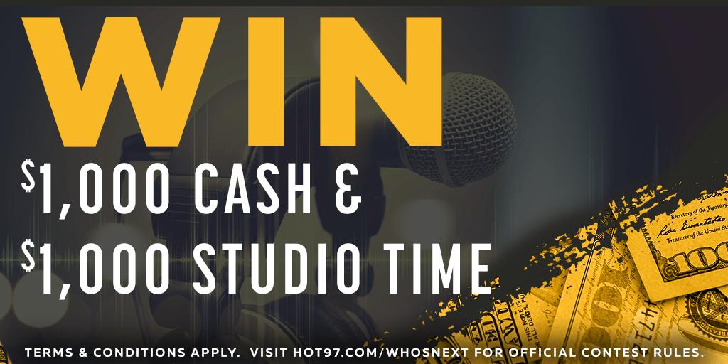Win $1000 & $1000 Studio Time