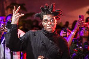 MIAMI, FLORIDA - SEPTEMBER 03: Kodak Black performs at the Miami Benefit concert for Haiti at Oasis Wynwood on September 03, 2021 in Miami, Florida.