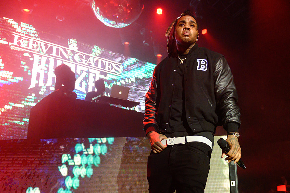 LOS ANGELES, CALIFORNIA - SEPTEMBER 17: Rapper Kevin Gates performs onstage at The Belasco on September 17, 2021 in Los Angeles, California.