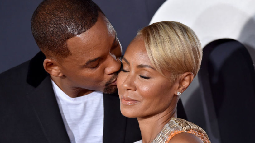"""HOLLYWOOD, CALIFORNIA - OCTOBER 06: Will Smith and Jada Pinkett Smith attend Paramount Pictures' Premiere of """"Gemini Man"""" on October 06, 2019 in Hollywood, California."""