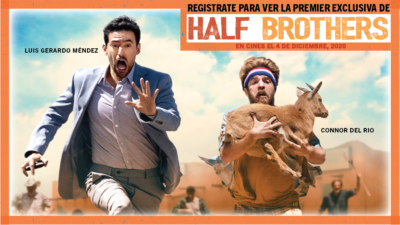 Half Brothers-Running-with-a-sheep