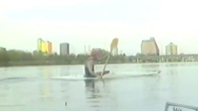 Kayaker on Town Lake in 90s