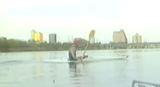 Kayaker on Town Lake in 90s