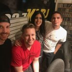 Corbella, August 7, 2018: Corbella in the KLBJ studio