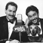 KLBJ tbt: two men and a puppy