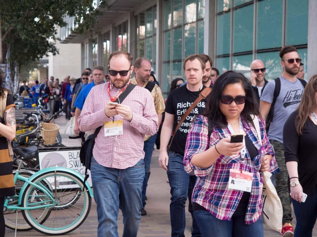 people walking at SXSW