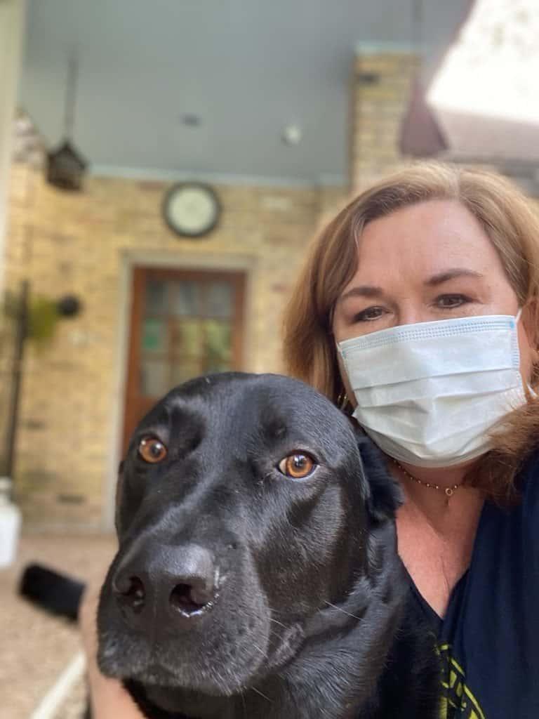 Reenie and her dog LISTO