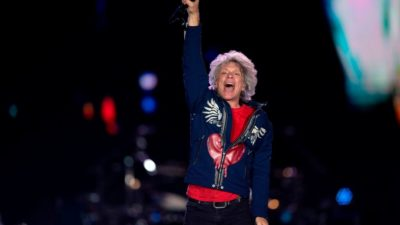 Bon Jovi during Rock in Rio festival at the Olympic Park, Rio de Janeiro, Brazil, on September 29, 2019 (Getty Images)