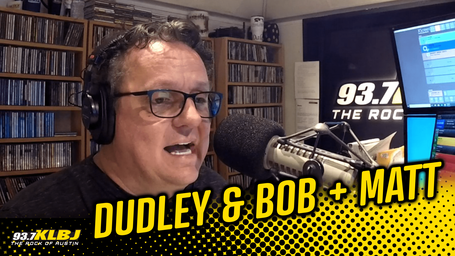 Dale Dudley in the studio