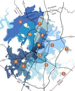 Austin's city council districts