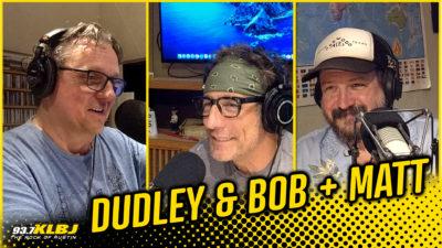 Dudley and Bob and Matt in studio