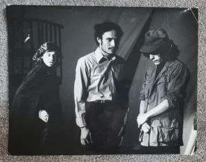 3 young actors in black and white