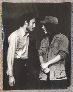 two young actors face eachother