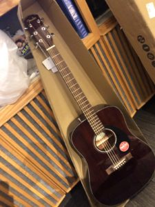 mahogany fender acoustic guitar