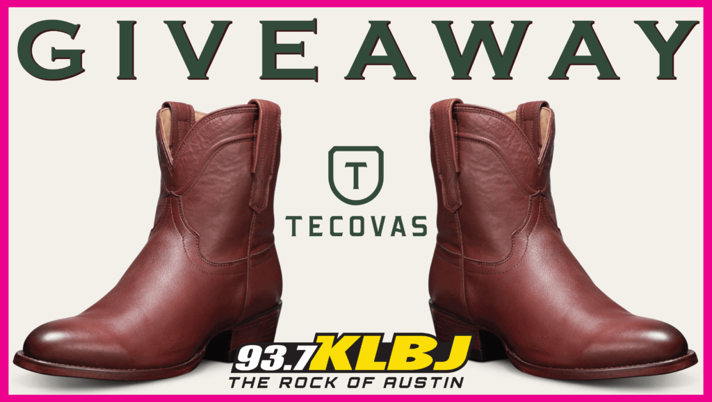 Tecovas Boot Giveaway KLBJ FM The Penny in bourbon