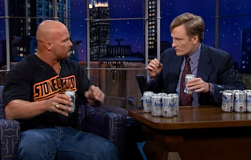 stone cold and conan chug beer