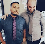 chuy and daniel with floppy ties