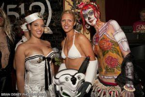 dbm halloween people in costumes