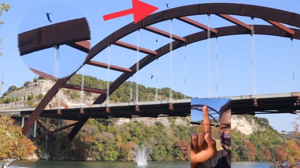 man jumps off bridge