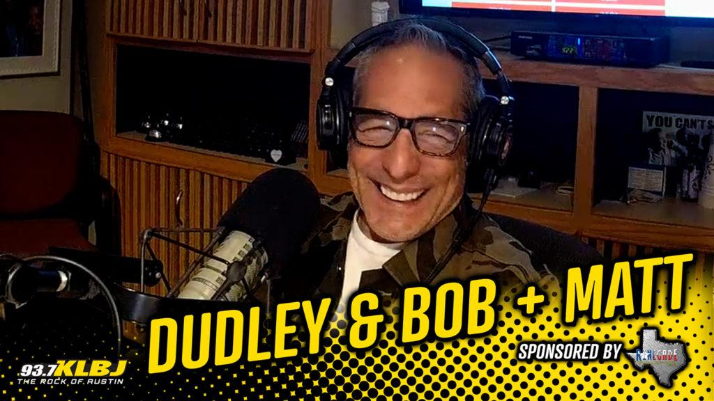 Bob in the KLBJ FM studio.