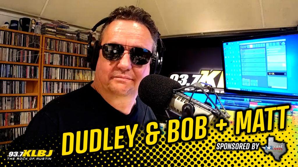 Dale in the FM studio.