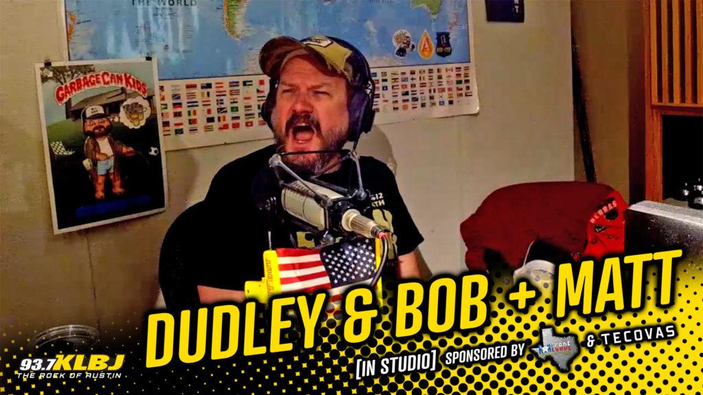Matt yells in the KLBJ FM studio.
