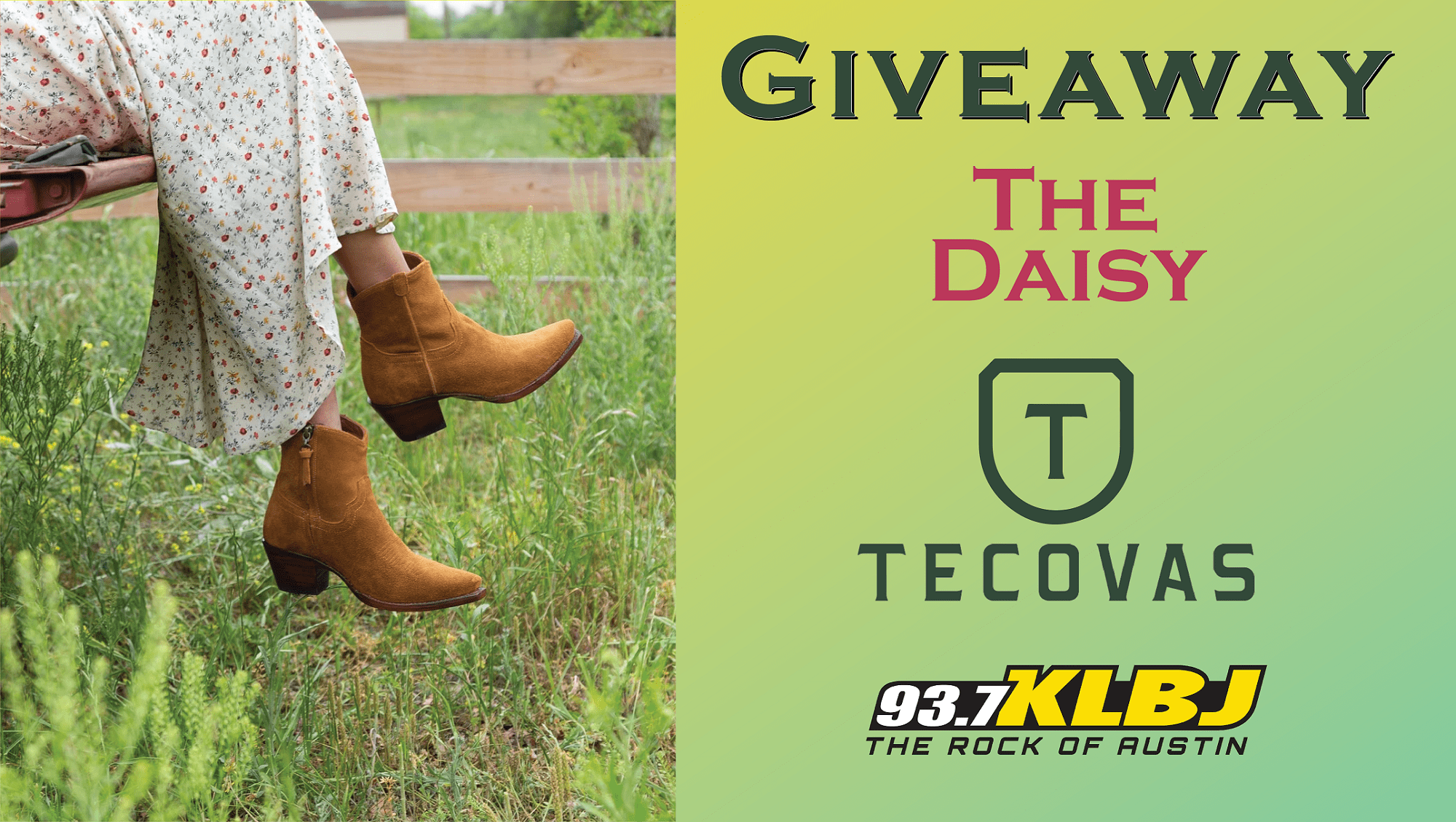 The Daisy Giveaway Tecovas KLBJ FM