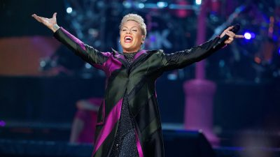 Pink performing on stage