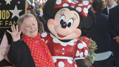 Russi Taylor and Minnie Mouse