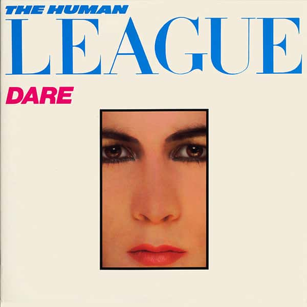 Human Leagu'es Dare Album Cover With A Framed Face