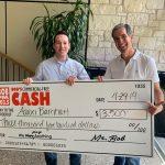Aaron Barnhart $3,500 Winner: Aaron Barnhart $3,500 winner Bob