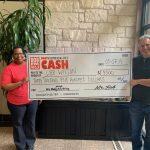 Lee Wilson $3,500 Winner: Lee Wilson $3,500 Winner with giant check for BOB