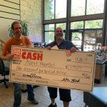 Albert Rappelet April 8th Winner $1,500 with Krash Kelly holding giant Check: Albert Rappelet April 8th Winner $1,500 with Krash Kelly holding giant Check