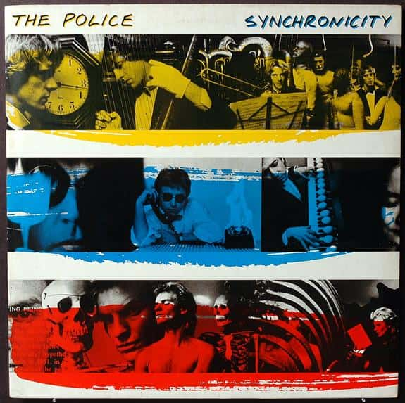 Police's Synchronicity Collage Album Cover