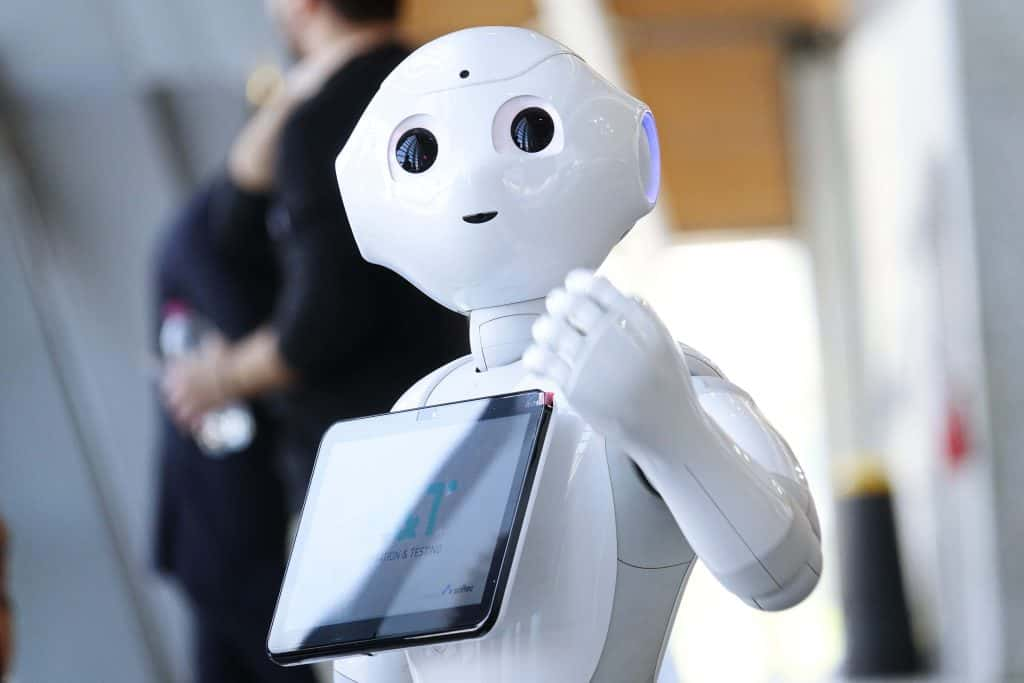 Robot assisting with information