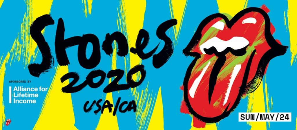 Stones 2020 USA/CA Sunday May 24th with Rolling Stones tongue