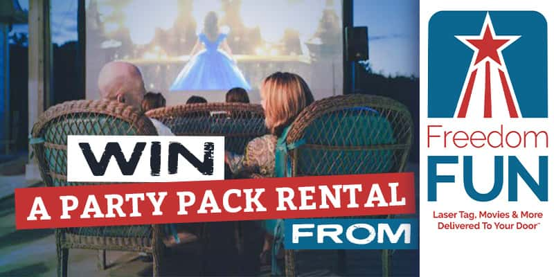 win a party pack rental from freedom fun usa