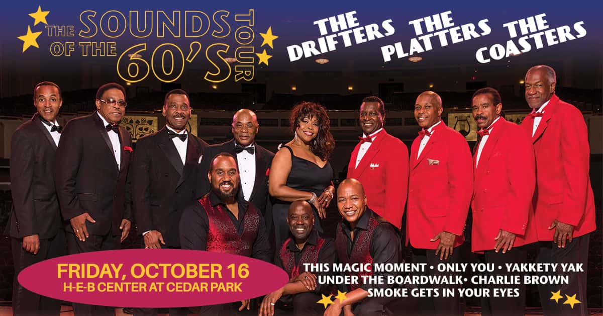 sounds of the 60s tour friday, october 16 heb center