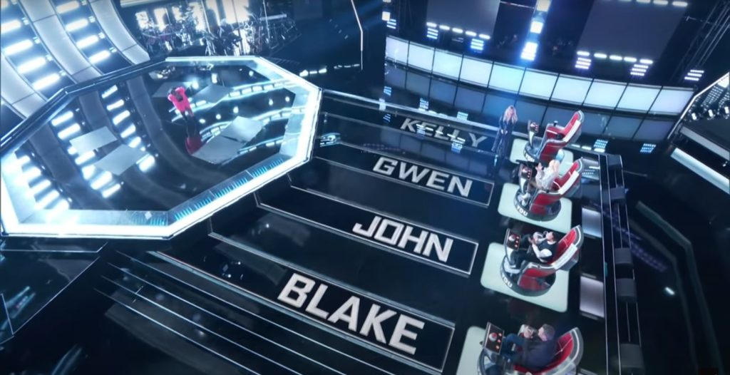 The Voice with Blake, John, Gwen, Kelly
