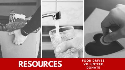 resources food drivees, volunteer, donate